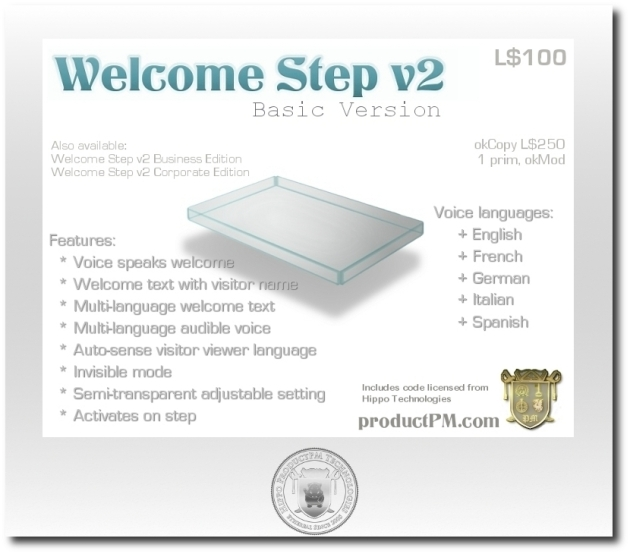 WelcomeStep v2 Basic Version